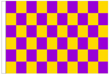 Purple And Yellow Check 5' x 3' Larger Sleeved Flag
